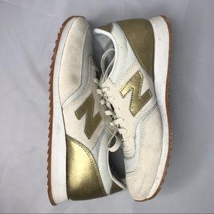 New Balance CW620JD2 Cream Gold Sneakers 7.5